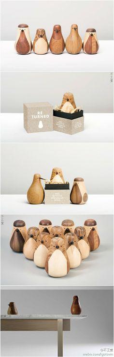 也许是因为森林资源丰富的原因,北欧人有制作木玩具的传统,而挪威设计师Lars Beller Fjetland也不甘人后,设计了这些名为Re-turned的木头小鸟。顾名思义,这些鸟儿都是用边角废料和废弃的旧家具制作的,毕竟,即便资源丰富,也要省着点用,不能和某大国一样啊。