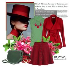 """ROMWE"" by marinadusanic ❤ liked on Polyvore featuring SAVE THE QUEEN, BGN and Valentino"