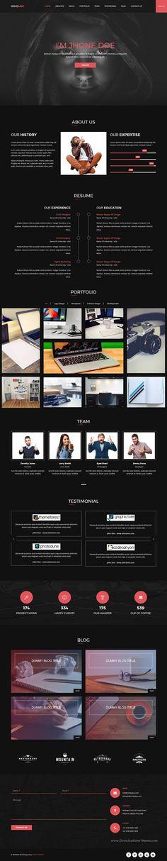 Hondo Personal Personal Portfolio Template Cv resume template - personal resume websites