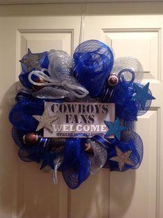Mesh Wreath Dallas Cowboys (Small)