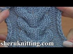 "How to Knit Horseshoe Cable Stitch Tutorial 24 Knitting Stitch Pattern. This time I will be showing you how to knit 6 by 6 horseshoe cable stitch. We invite you to visit our store ""Rushel Boutique"" . Rushel Boutique is the unique stylish handmade Cable Knitting Patterns, Knitting Videos, Crochet Patterns Amigurumi, Knitting Stitches, Knit Patterns, Stitch Patterns, Knit Crochet, Le Polo, Handmade Clothes"