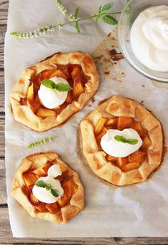 Recipes - Mini Peach Galette by www.cookingwithruthie.com