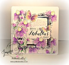 Polkadoodles Belle Papillion and bella Fleur stamp sets with matching dies. Coloured with Nuvo Aquaflow pens. Flower-tastic Friday ...
