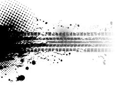 Grunge Tire Tracks Background Royalty Free Cliparts, Vectors, And ...
