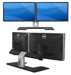 Amazon Com Dual Monitor Stand Holds Monitors Up To 27