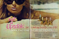 Max Factor frosted lipstick, 1965