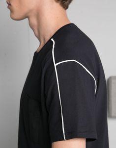 Square neck top - T-shirts - Bershka United Kingdom