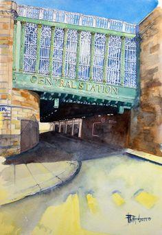 Central Station, Water Tower, Glasgow, Artwork, Design, Work Of Art, Auguste Rodin Artwork, Artworks