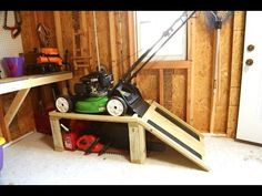 Storage Caddy for Garden Mower and Yard Instruments - YouTube.... ** Find out more at the picture link