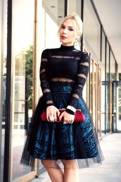 Lace blouse, Tulle Skirt