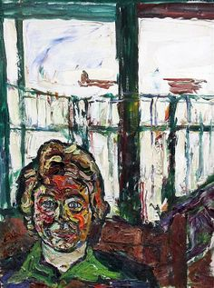 John Bratby (1928-1992), Patty before a window, 24x18in, oil on canvas