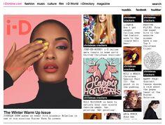 Print Design Inspired Websites