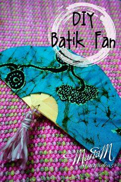 DIY how to make batik fan