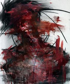 [27] untitled oil & charcoal  on panel 72.5 x 60 2013 by KwangHo Shin, via Behance