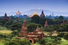 Buddhist temples can be seen across the plains of Bagan, an ancient city in central Myanmar. It has been hailed as one of the most impressive archeological sites in the world.