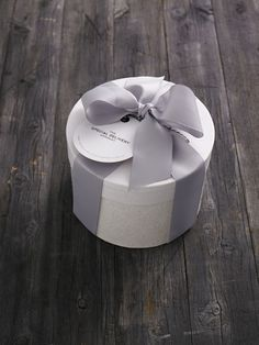 GIFT WRAPPING: The Special Delivery Company Hat Box with grey grosgrain ribbon. Available from www.thespecialdeliverycompany.com.au