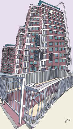 W12. #london #towerblock #urban #art #w12 #popart #architecture. © Tommy Penton 2014