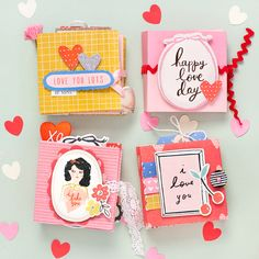Valentine's Day gift album | Crate Paper DT