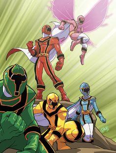 Power Rangers A M O! Quase todos, mas esse #PRforçamistica é muito bom
