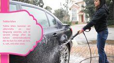Rengöring Ge din bil en grundlig rengöring, inifrån och ut, inklusive undersidan av bilen där ackumulerad smuts och skit kan göra din motor och transmission onödigt varm. Rengöring av insidan av bilen kommer att ge dig en mer komfortabel körning och eventuellt lätta din last genom att eliminera onödiga saker. #friktionsdäck