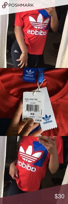 Red adidas originals top Brand new with tags. Size XS no trades firm price adidas Tops Crop Tops
