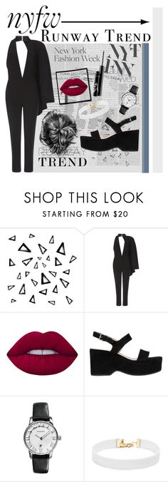 """""""NYFW🇺🇸"""" by lara-fashion22 ❤ liked on Polyvore featuring Nika, Oris, Lime Crime, Marc Jacobs, Vanessa Mooney, NYFW, outfit and fashionset"""