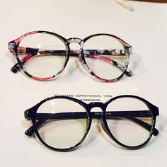 4bc749700f Large Oversized Round Vintage Geek Nerd Clear Lens Eye Glasses frames  fashion