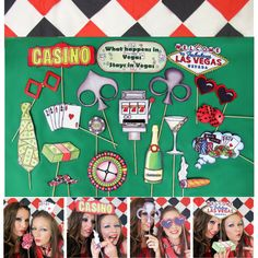 casino poker photo booth props perfect for your Las Vegas style party, gambling night, poker and blackjack extravaganza or to celebrate a casino party.... by thepartyevent, $14.99