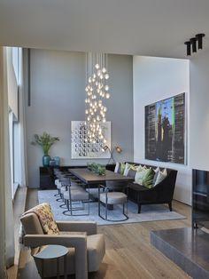 Penthouse, Oslo - Designed by Norwegian Interior Architect firm Metropolis arkitektur & design - www. Living Room Inspiration, Home Decor Inspiration, Luxury Home Decor, Luxury Homes, Modern Interior, Home Interior Design, Home And Deco, Elegant Homes, Dining Room Design