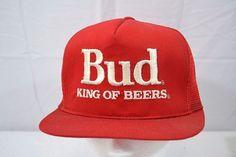 Bud King Of Beer Trucker Style Baseball Cap Snapback  #Unbranded #BaseballCap
