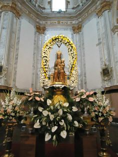 Imagen de la Virgen de Gracia en la Arciprestal. Patrona canónica de Vila-real
