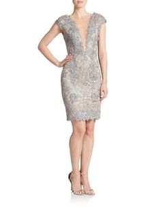 Brands   Dresses   Floral Lace Overlay Cocktail Dress   Lord and Taylor