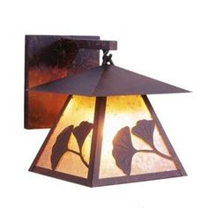 Steel Partners Prairie 1 Light Outdoor Wall Lantern Shade Color: Slag Glass Pretended, Finish: Architectural Bronze