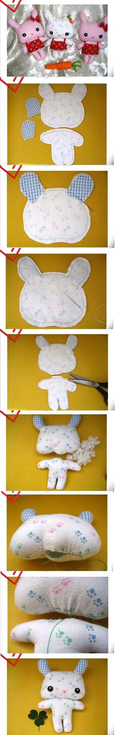 DIY Cute Fabric Bunny DIY Cute Fabric Bunny