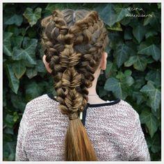 Dutch braids and a bubble fishtail braid.