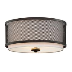 Filament Design 3-Light Oil Rubbed Bronze Flushmount-CLI-SH474271 - The Home Depot