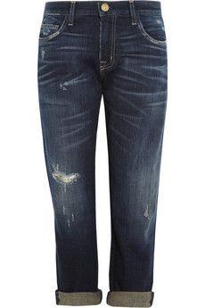 Current/Elliott The Boyfriend cropped mid-rise jeans    NET-A-PORTER