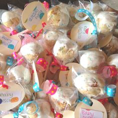 Polka dot themed baby shower - cake pops