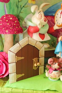 Alice in Wonderland birthday party decorations! See more party planning ideas at CatchMyParty.com!