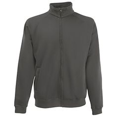 Fruit Of The Loom Mens Sweat Jacket XL Light Graphite * To view further for this item, visit the image link.Note:It is affiliate link to Amazon.