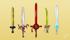 A great heroes swords [ Adventure Time ] by Isli
