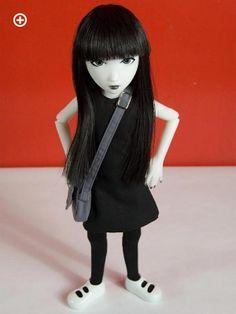 Emily the Strange doll w/ bag by The Ashton-Drake Galleries