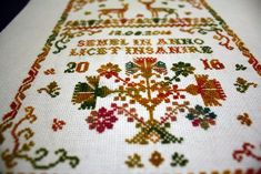 My wedding sampler with the deer - Mrs. We Get Married, Wool Thread, Thing 1, Mustard Yellow, Cross Stitch Embroidery, Flamingo, Wedding Planning, Vibrant, Textiles