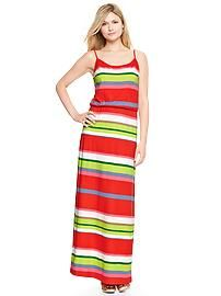 Striped cami maxi dress