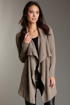 5abe14b5cb6f Zen Sweaters Long Cascade Wrap Sweater Cashmere Wrap