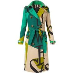 Burberry Book Cover Print Trench Coat