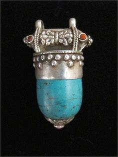Tibetan Tribal Jewelry Pendant - Old.  Have one almost identical -!-