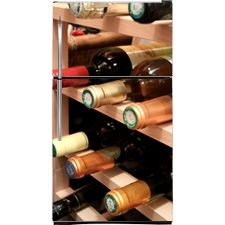 Turn your fridge into a wine rack for $69: Wine Rack Refrigerator Covers, Skins and Panels.  Custom Fridge Panels. Magnet Covers.