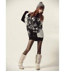 Suéter Feminino Tigre Animal Print