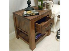 Detroit Walnut One Drawer Lamp Table - http://www.solidoakfurniture.co.uk/ranges/detroit-walnut/detroit-walnut-one-drawer-lamp-table.html